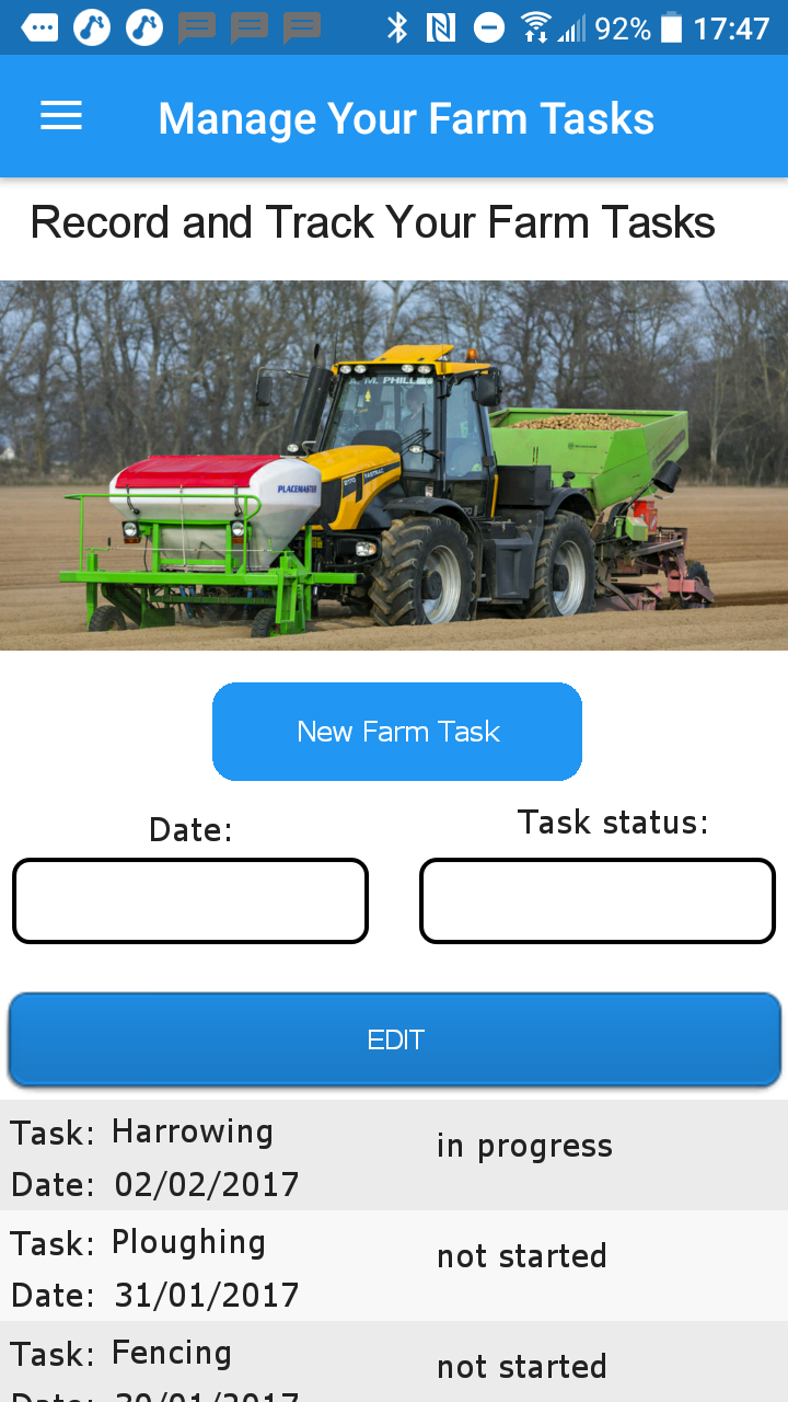 Farm Task Management APP