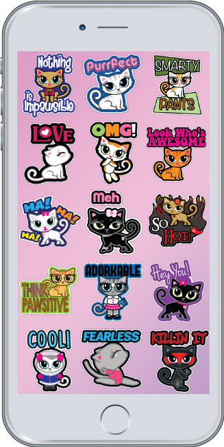 Cheeky Chats Cute Cat Stickers