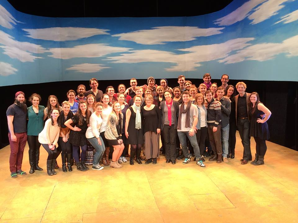 with the cast and creative team of  O Pioneers!  at Marymount Manhattan College