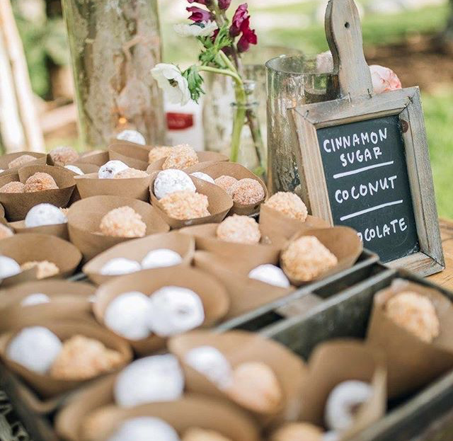 Wedding of    Landon & Hallie Hyde    | Photo:    @kimjpratt    Product Used:  Cake Donut Holes
