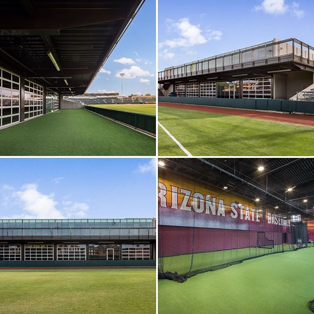 Batter up! A finished look at our @arizonastateuniversity Batting Cages. Recently completed with @gouldevansarch, @core1937, @dibbleengineering, and @hendersonengineers. Great job team! #FinishedProjectFriday #FPF #baseball #structuralengineering #design #construction