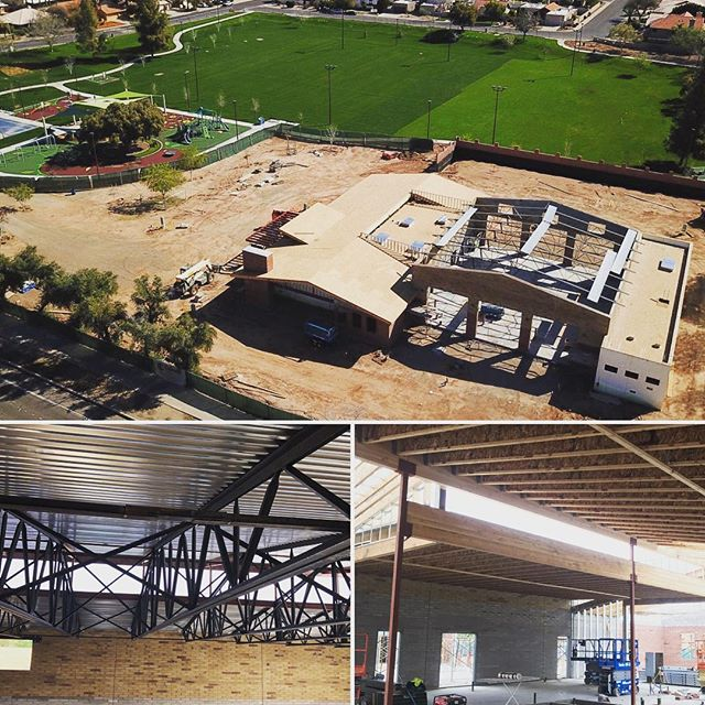Here's a sneak peak of the new Tempe Fire Station #7 going up at Estrada Park! The fire station is part of a larger park improvement effort. We're extremely grateful to be a part of a team that enhances the community!  Architect: @arringtonwatkinsarchitects  GC: @calienteconstruction  #WIPW #WorkInProgressWednesday #structuralengineering #design #construction #build #architecture