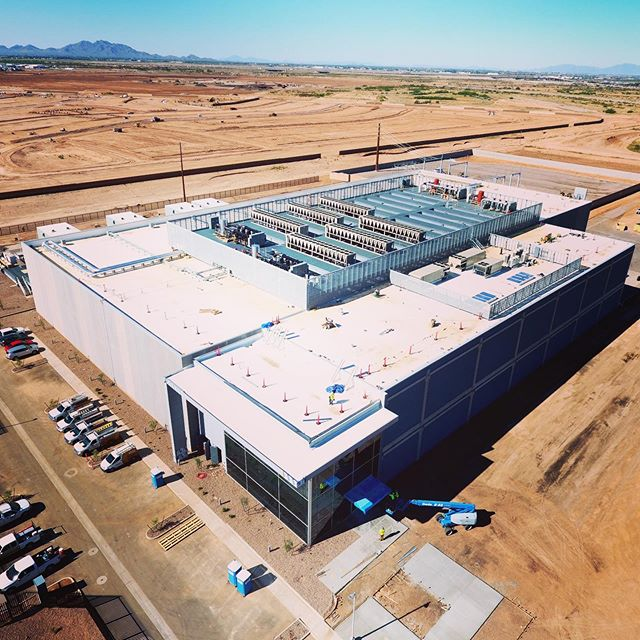 """So this is """"the cloud"""" that everyone's been talking about! A great team effort with DCM, @skanskausa, @dlr_group, @epsgroup_inc, Coreslab, @suntecconcrete, Schuff Steel, and @tdindustries for EdgeCore Data Centers in Mesa. The newly completed 2-story, 178,000SF, 32-megawatt data center is scheduled to come online shortly! #FinishedProjectFriday #FPF #structuralengineering #construction #datacenter #cloud"""