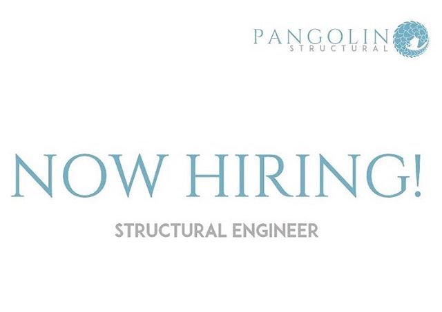 We're hiring a structural engineer with 3-7 years of experience to join our great team! Click on the link in our bio for additional information and instructions to apply!