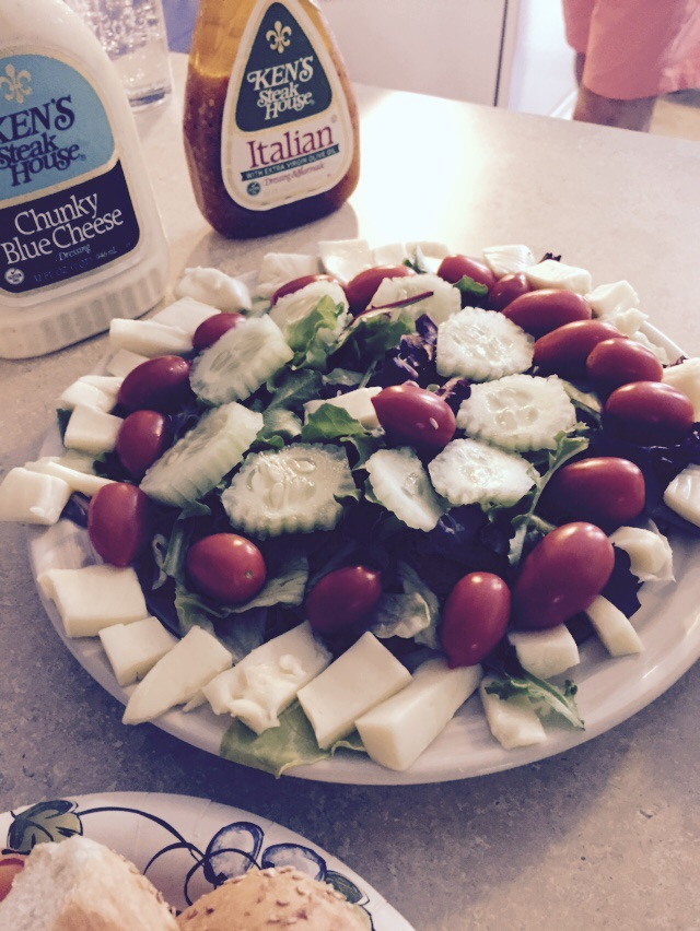My eldest daughter can make a pretty and mean tasting salad