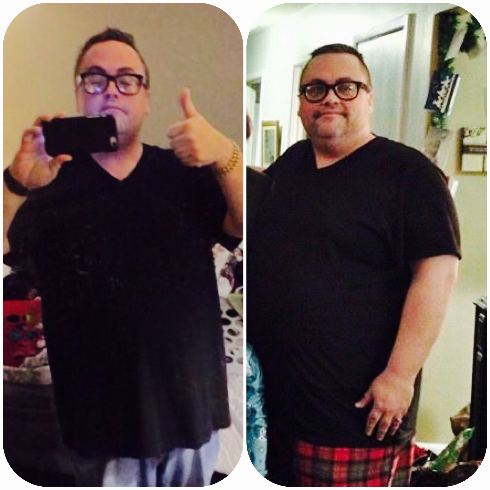 That's me on the right just a year ago at Xmas...me now almost a year later wearing the same shirt no less