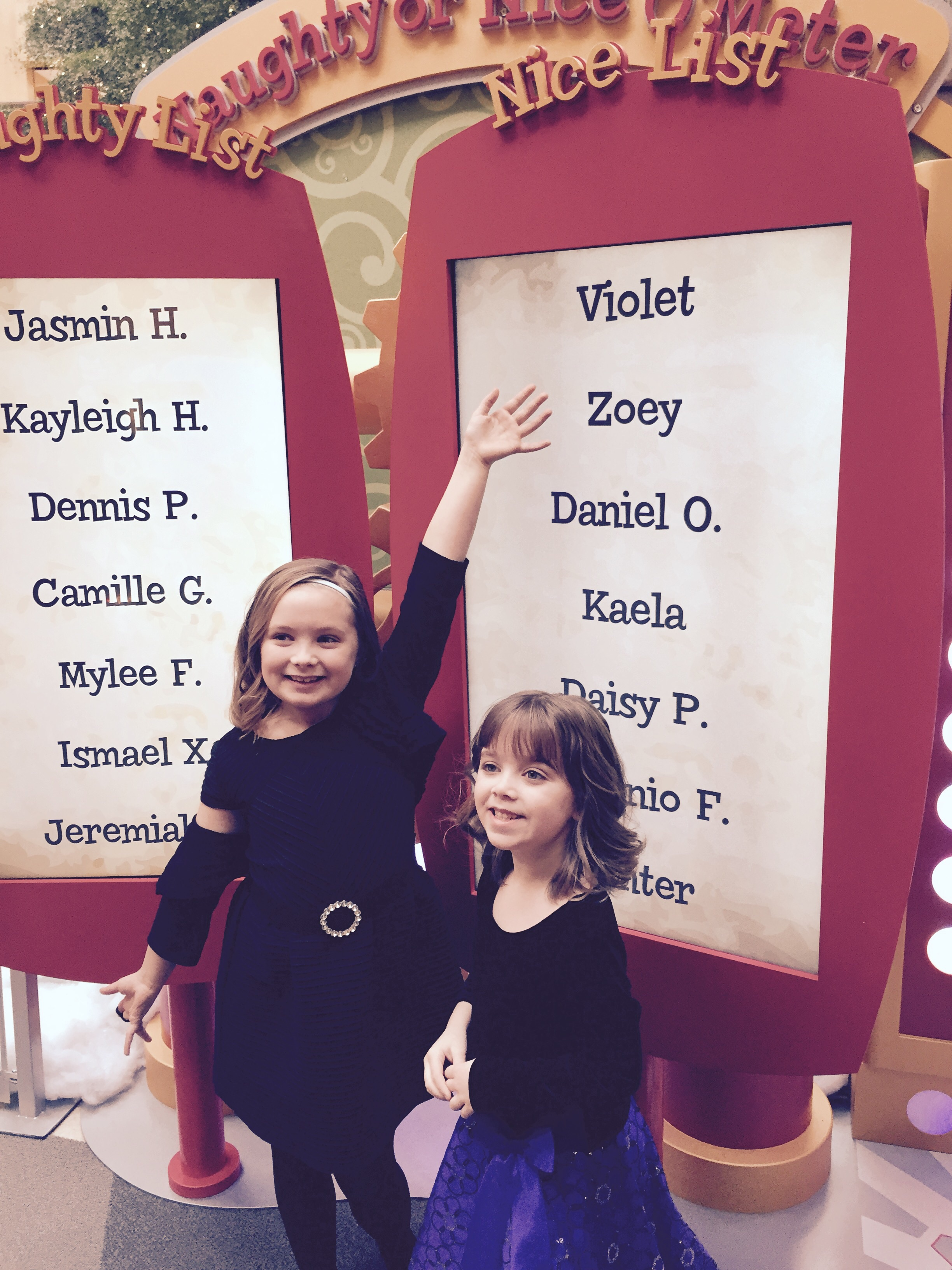 Last year's pic. Violet this year decided to bail, but still went with Zoey this year 👍