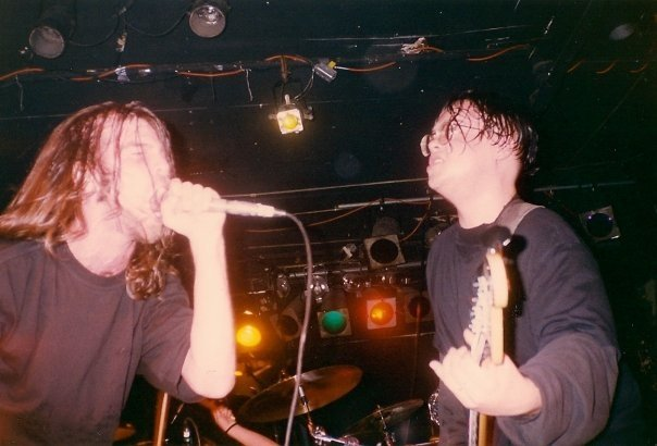 @Lamours in the 90's with pos opening for type-o…so young, so thin and so much bad hair