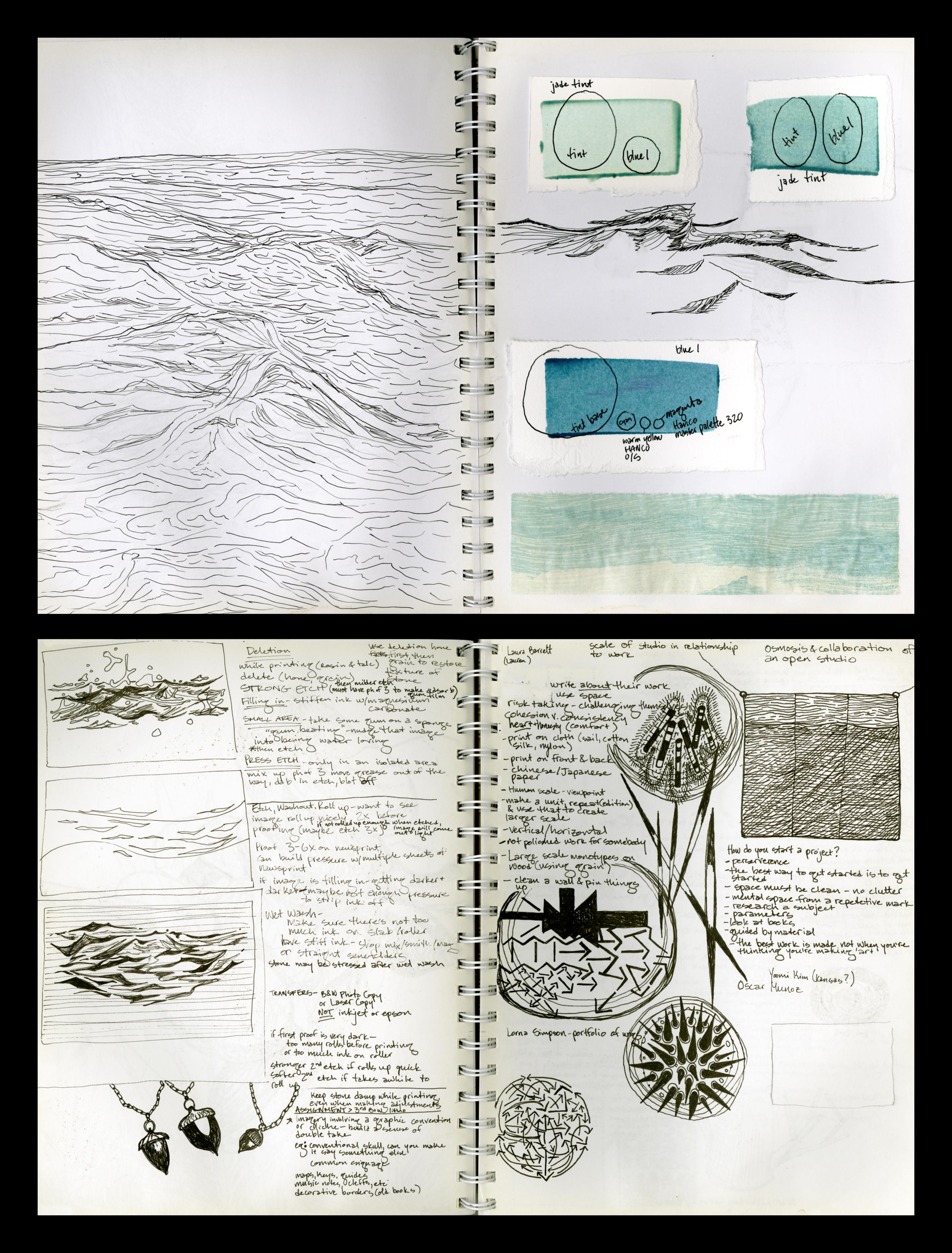 Atlantic Ocean Drawings, Studio Research //2012-2013