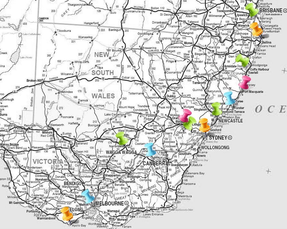 A map of myroad trip from January 26-March 1                                                   © Cassia Reynolds