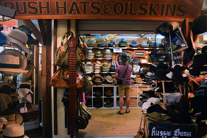This man tried on at least seven different hats - you have to get the right fit for your bush gear!