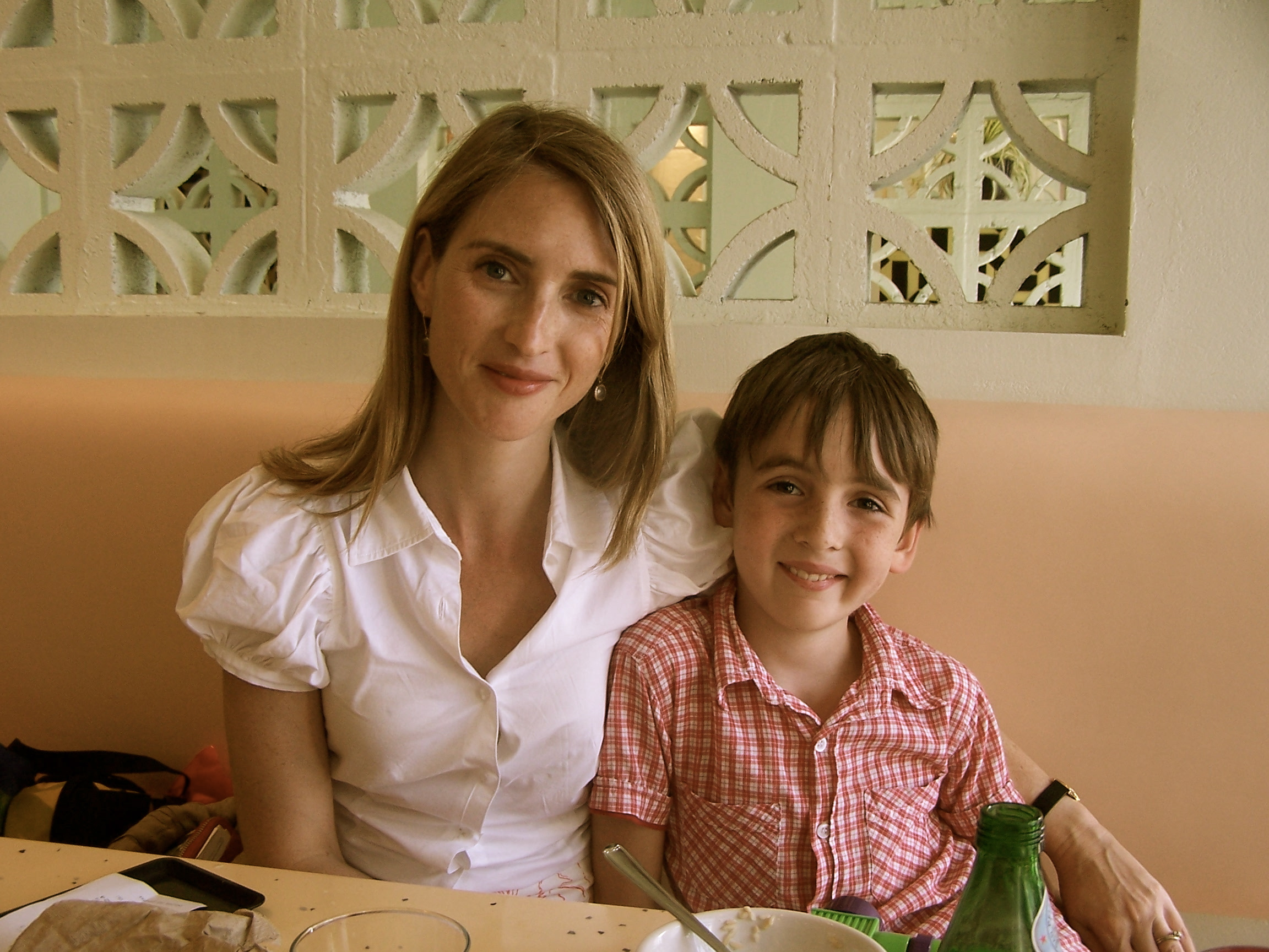 Alexandra Oliver and son.
