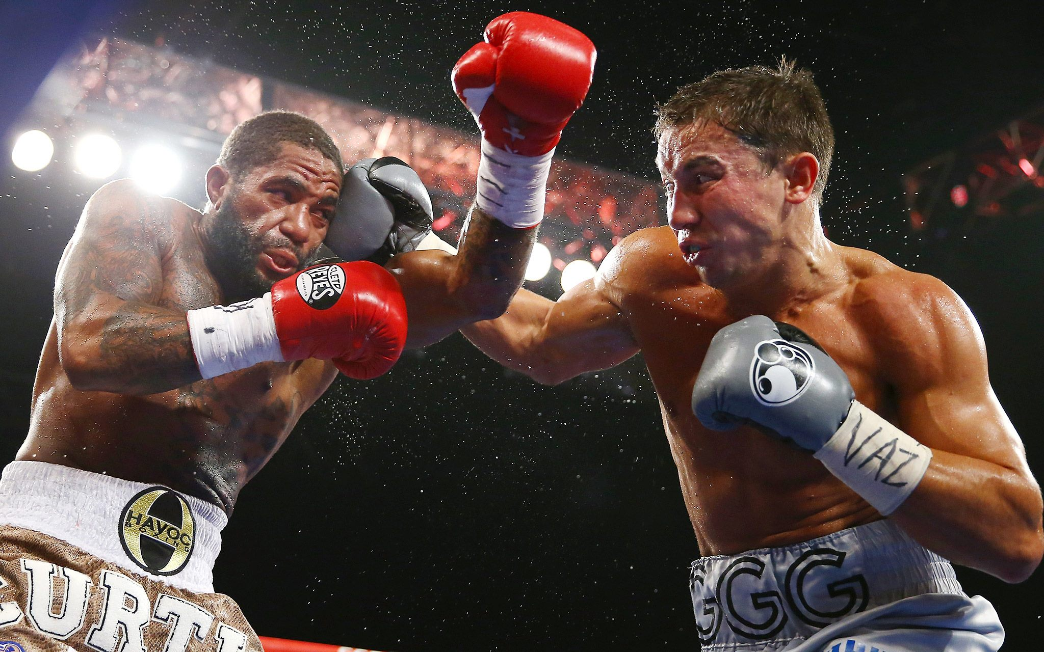 Gennady Golovkin, pictured right
