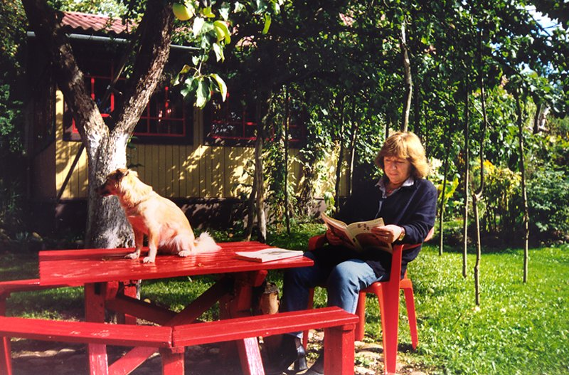 Alexievich at her country home near Minsk in 2002, courtesy of the author's website.