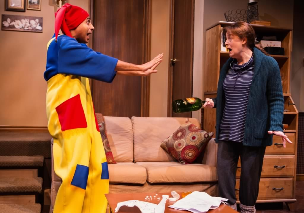 Anand Rajaram and Sarah Dodd in  Mustard  at Tarragon Theatre