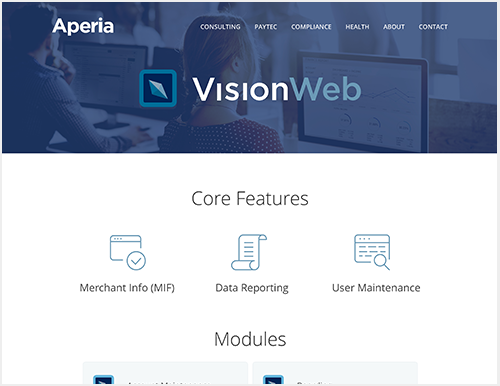 Aperia had just gone through a brand refresh and needed their website redesigned, to reflect the direction of new product releases and design standards.