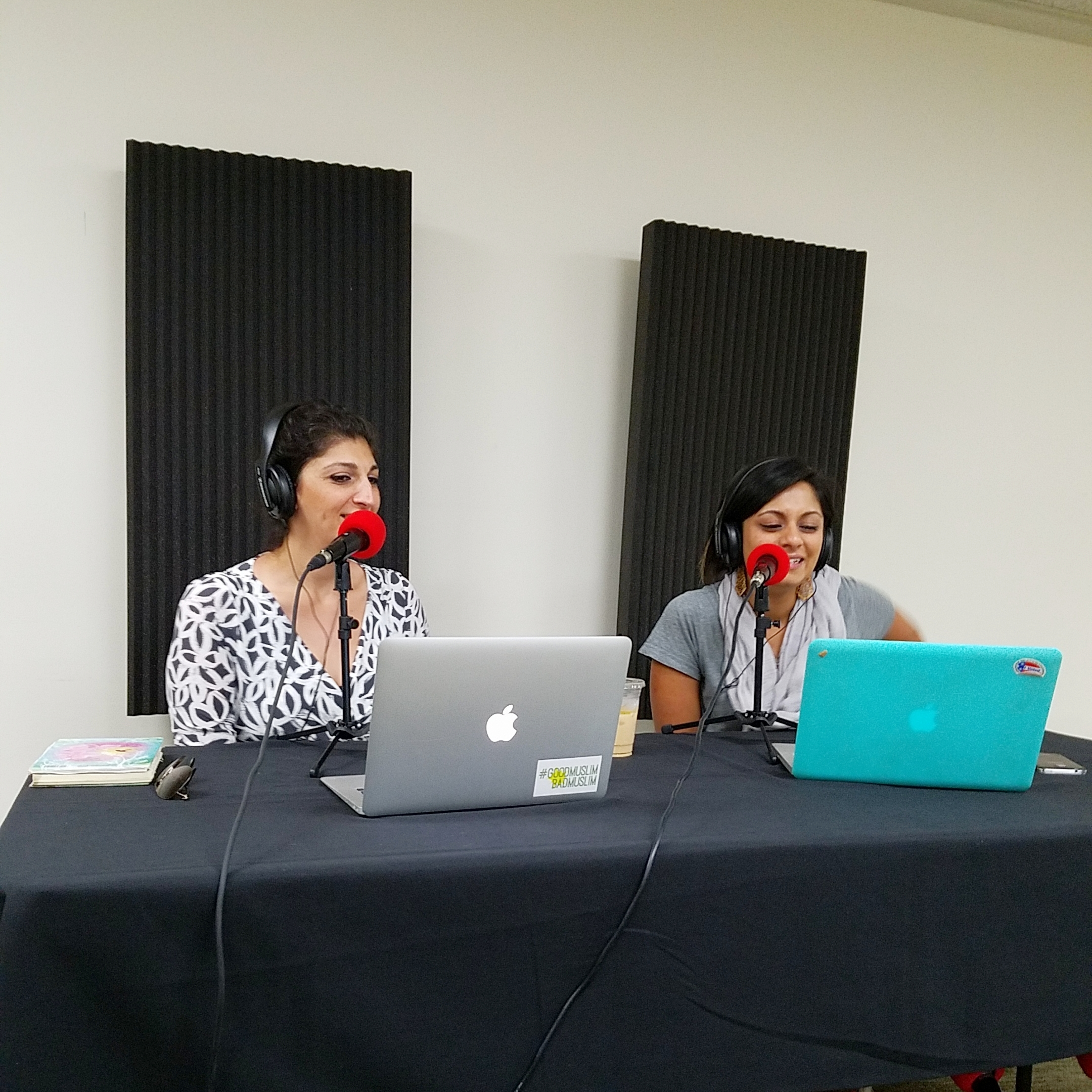 Zahra & Taz in the Podcast Lounge