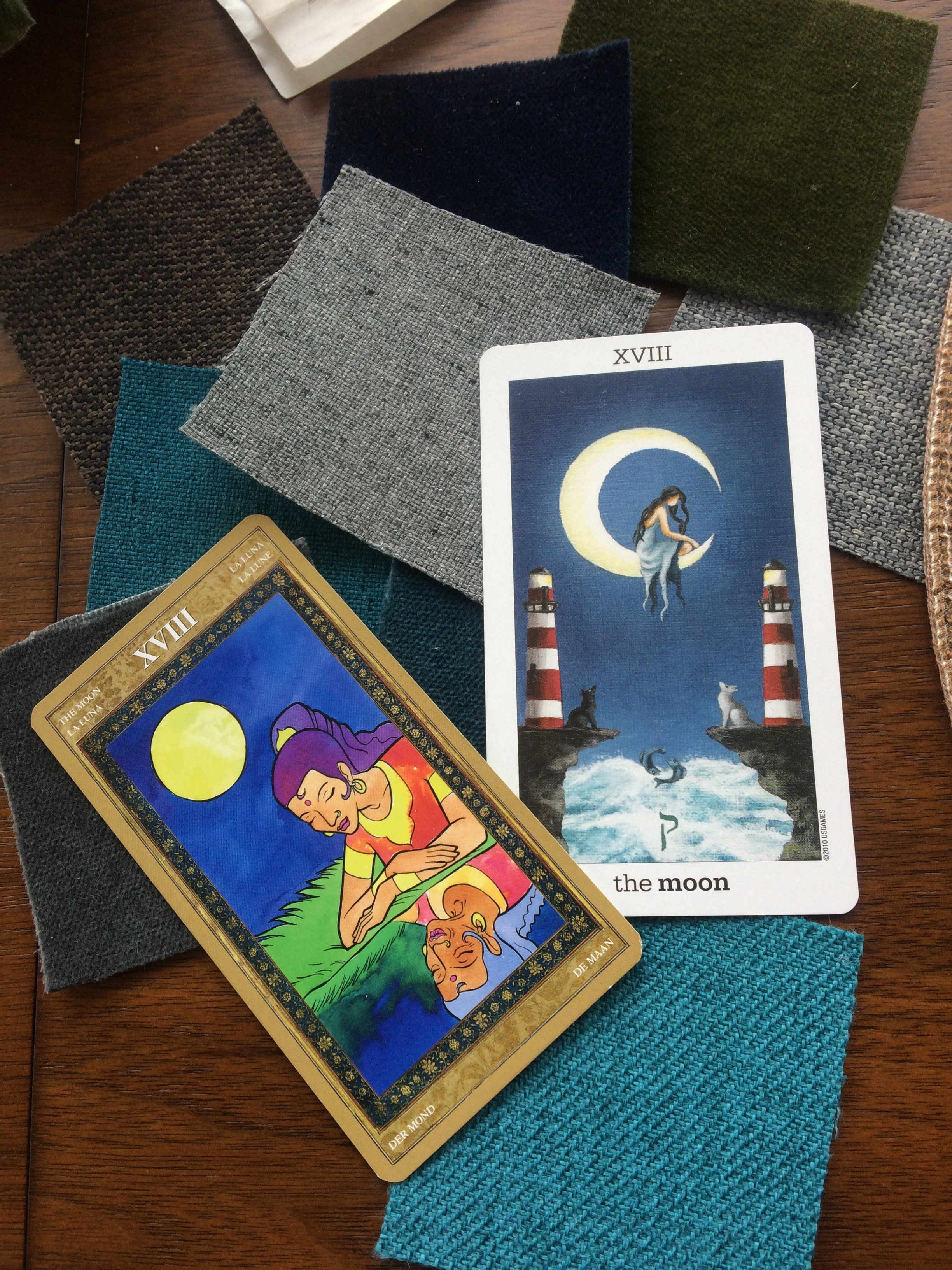 A few of my favorite images of the moon, according to the Tarot.