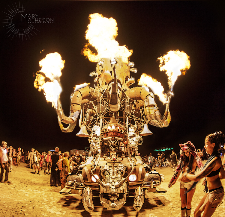 El Pulpo Mecanico  at  Burning Man  - Black Rock Desert, Nevada