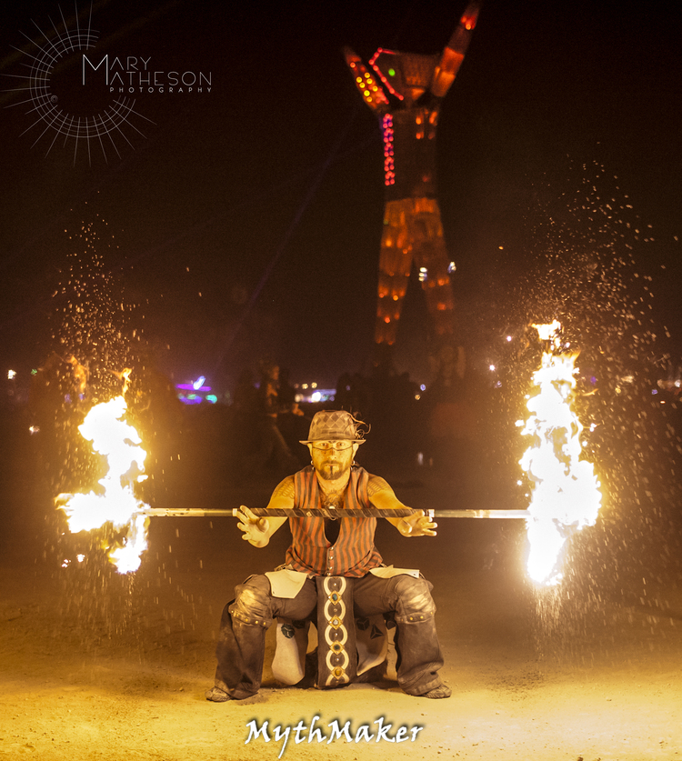 Mochitoki  of  Mythmaker  at  Burning Man  - Black Rock Desert, Nevada