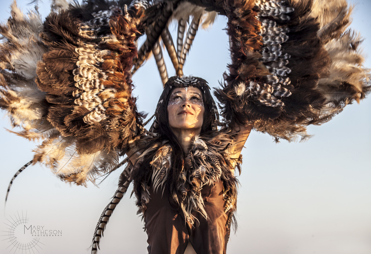 Ildiko Cziglenyi at  Burning Man  - Black Rock Desert, Nevada