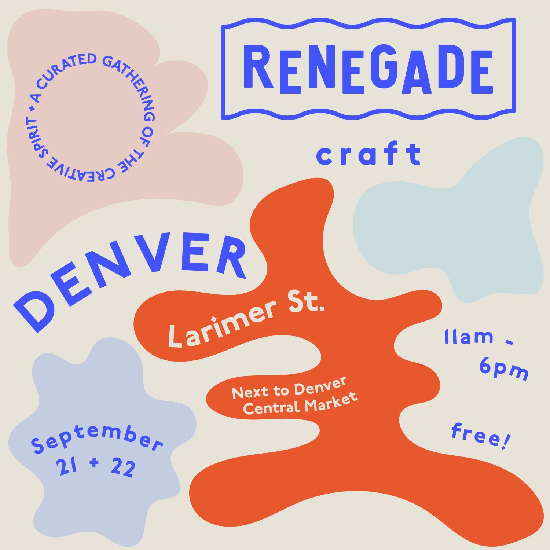 RSVP to Denvers Renegade Craft Fair on Facebook  HERE