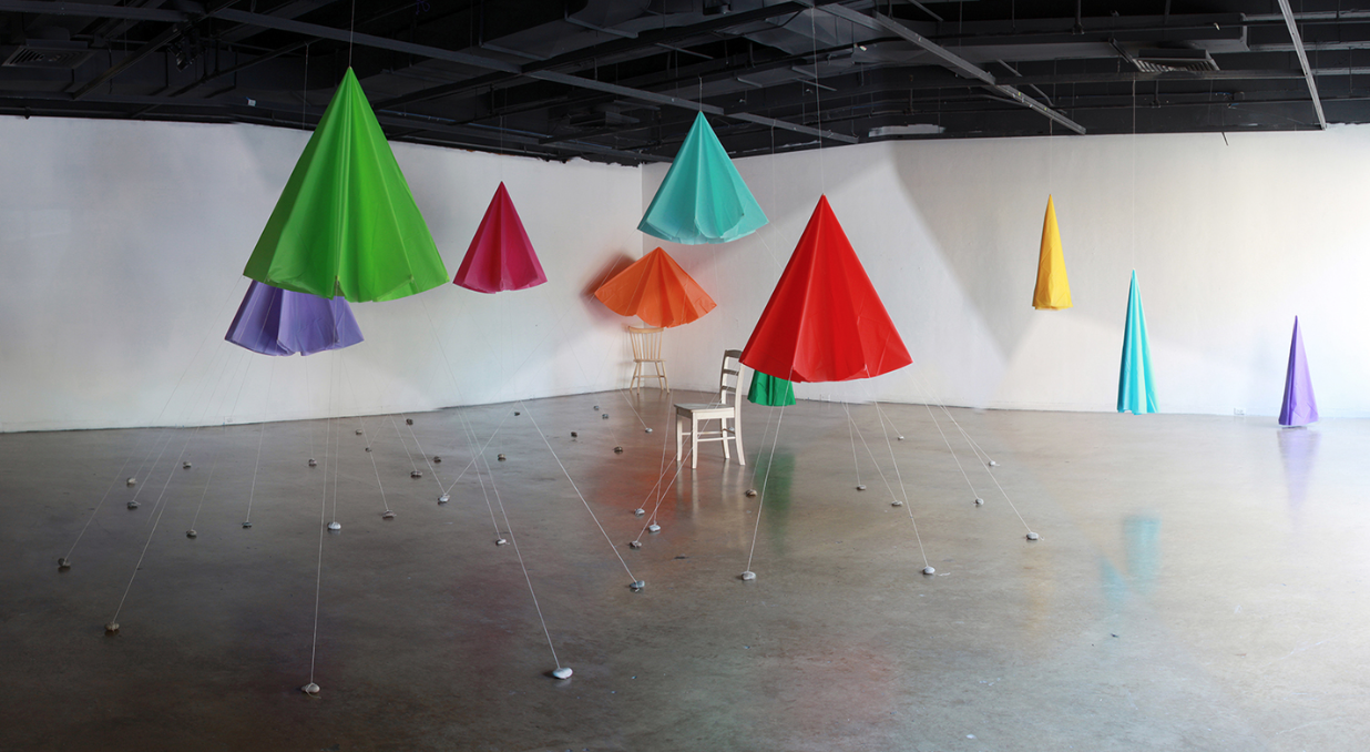 Canopy Room , 2014. Temporary installation in the Doolin Gallery at SMU Meadows School of the Arts, Dallas, TX.