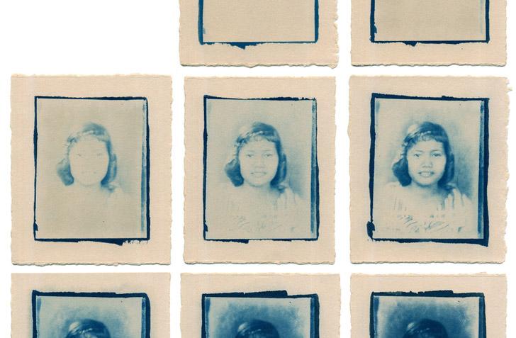 Cyanotypes of my grandmother