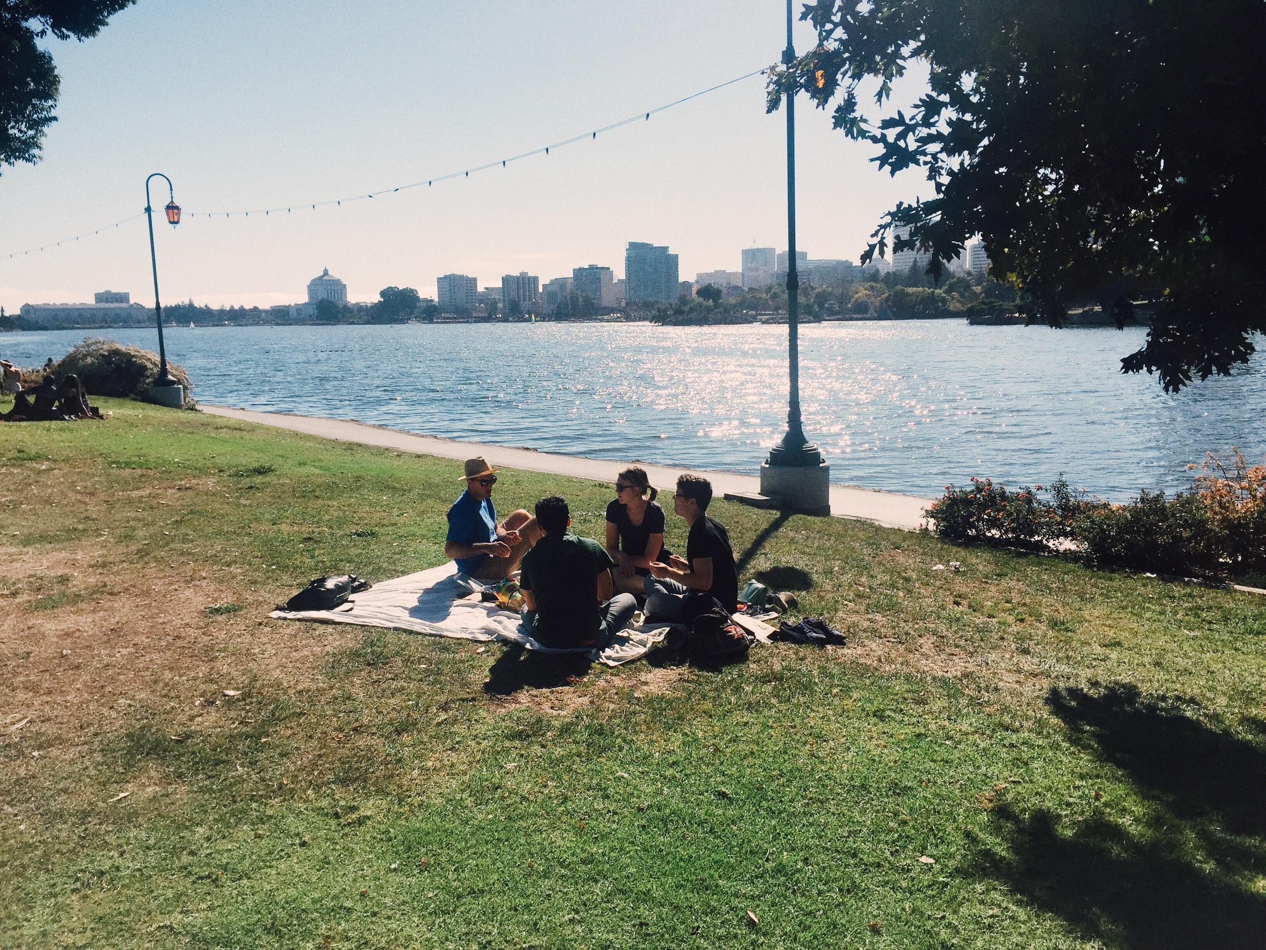 Sunday picnic by Lake Merrit, August '15