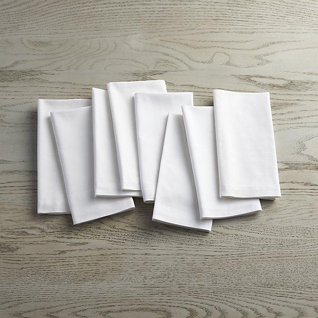 Fete White Cloth Napkins, Set of 8 - $27.95
