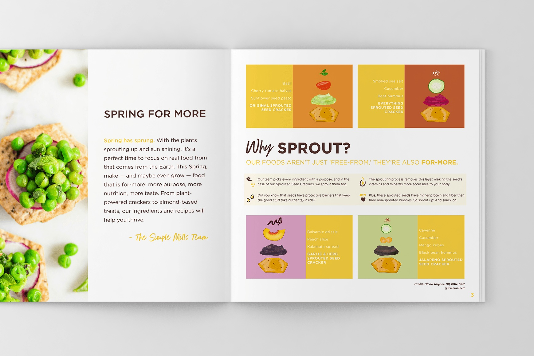 SIMPLE MILLS 2019 SPRING ISSUE:  PRINT LAYOUT + ILLUSTRATION