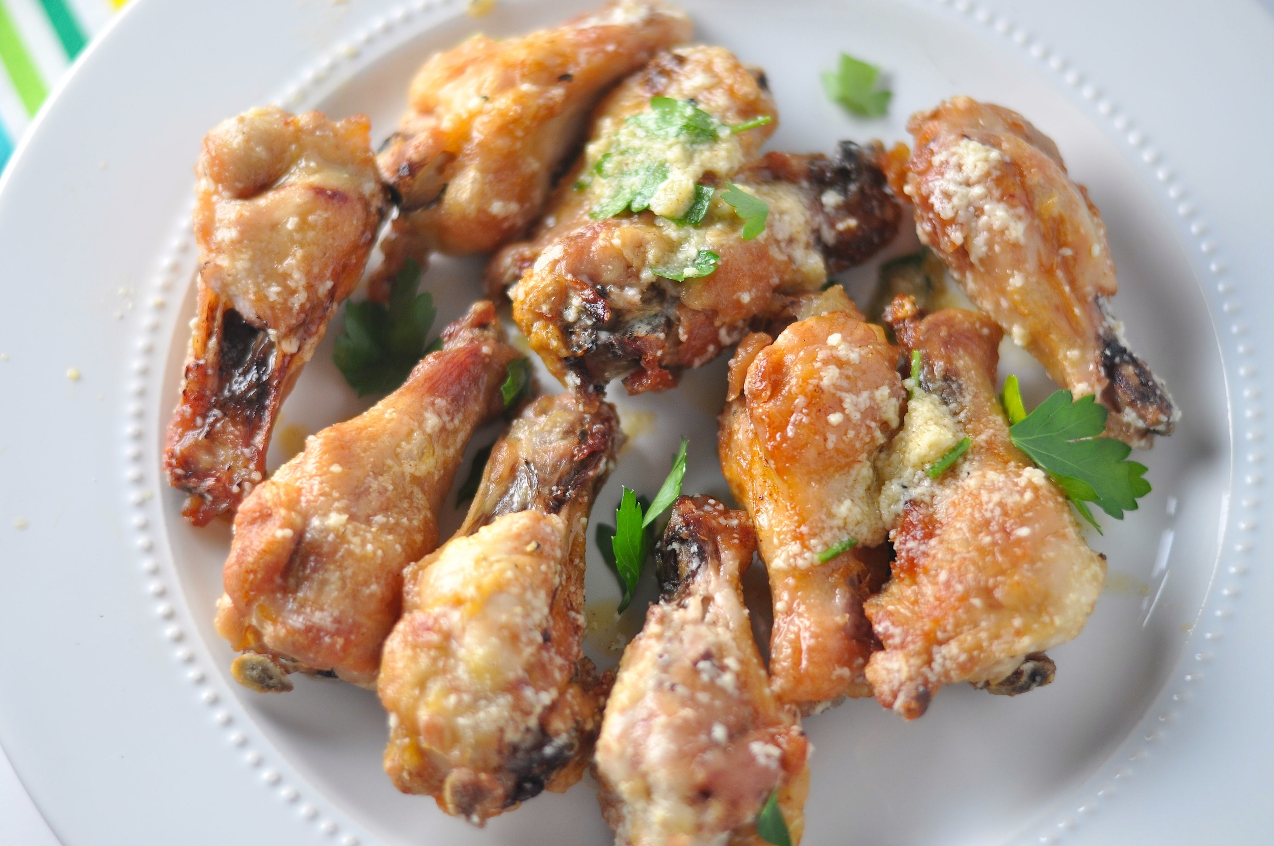 garlic cheese wings