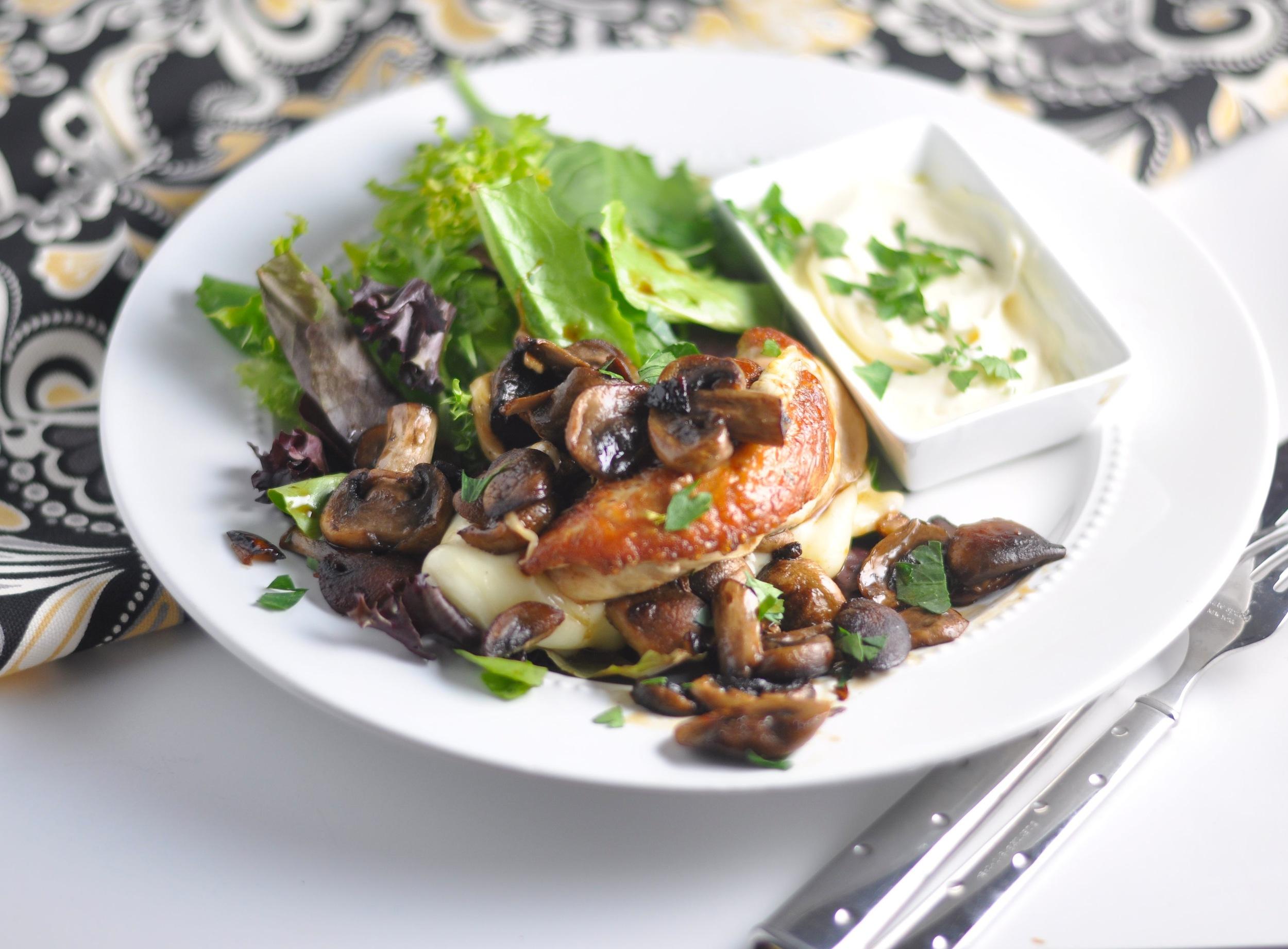 low carb truffle mushroom chicken