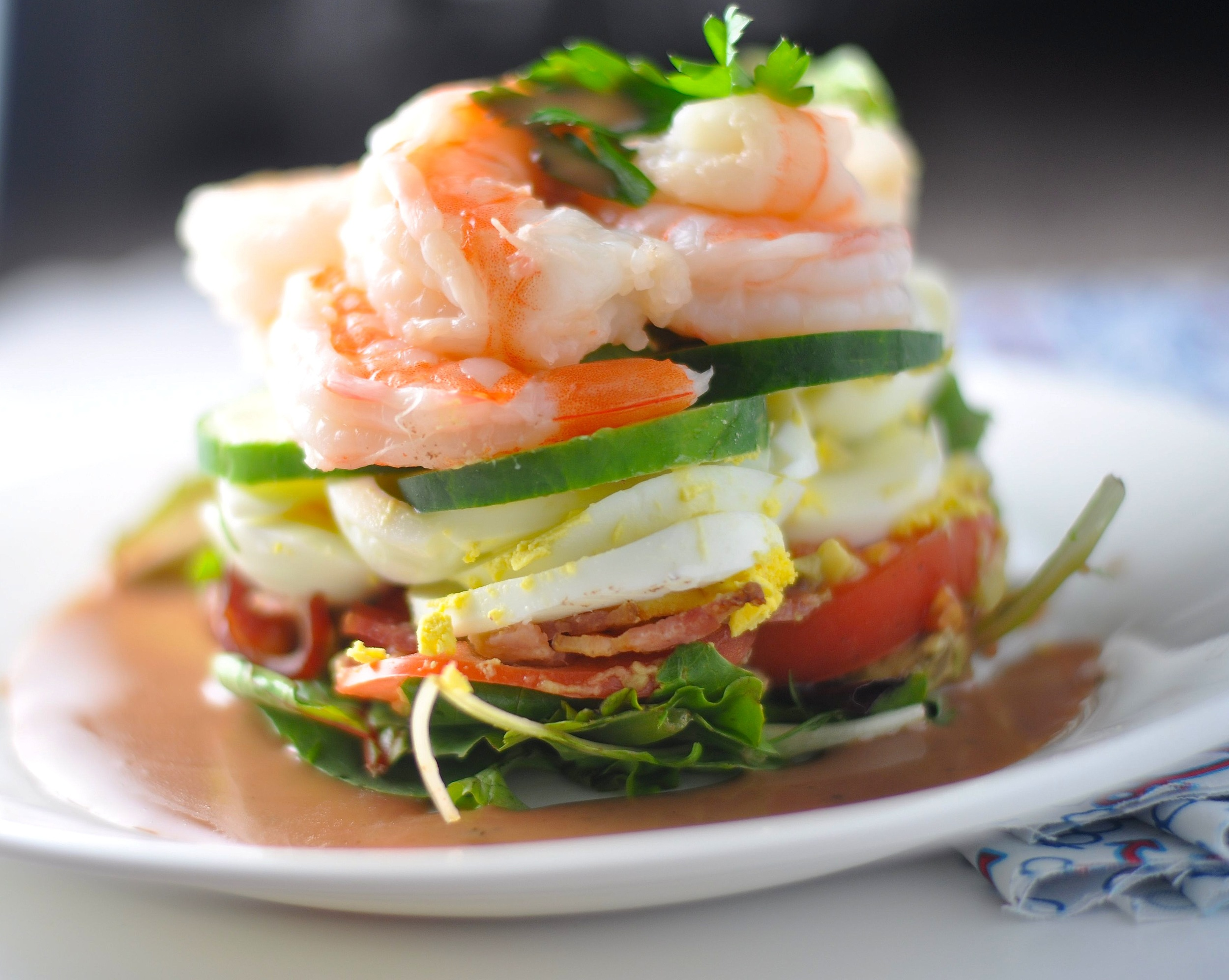 low carb shrimp cobb salad