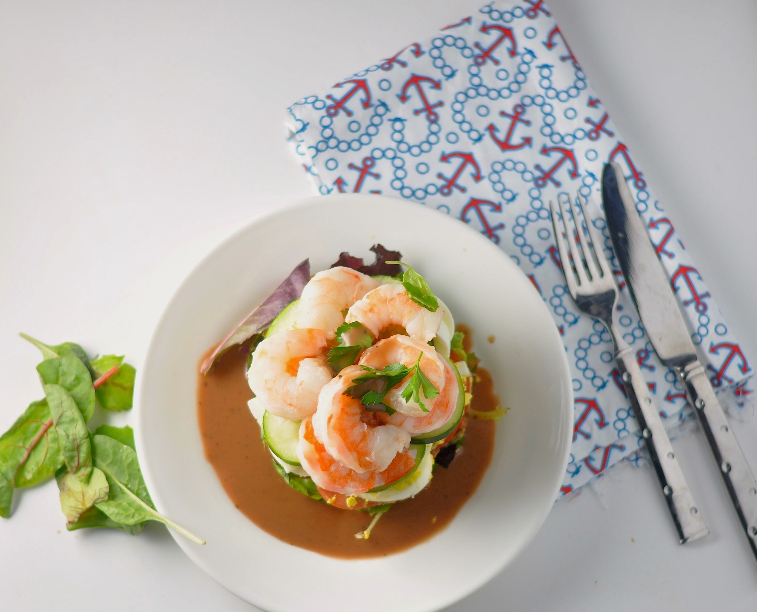 low carb shrimp cobb salad