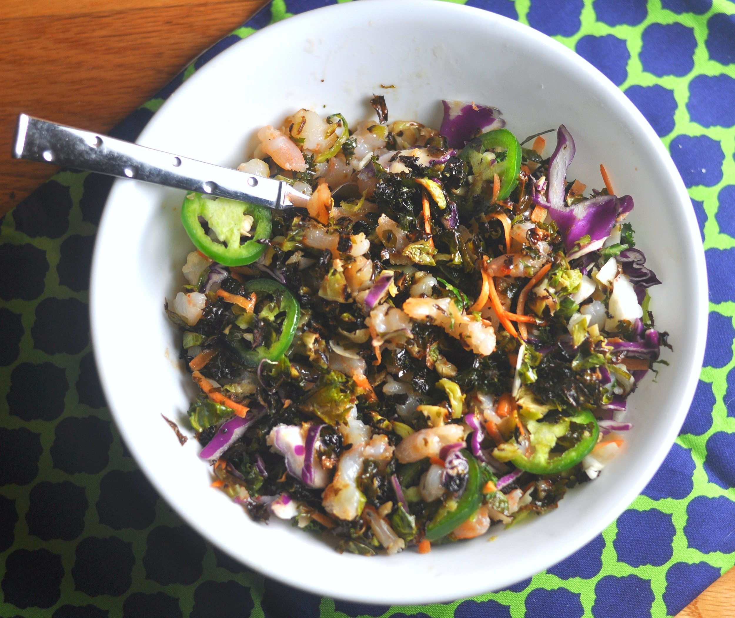 brussels and kale salad