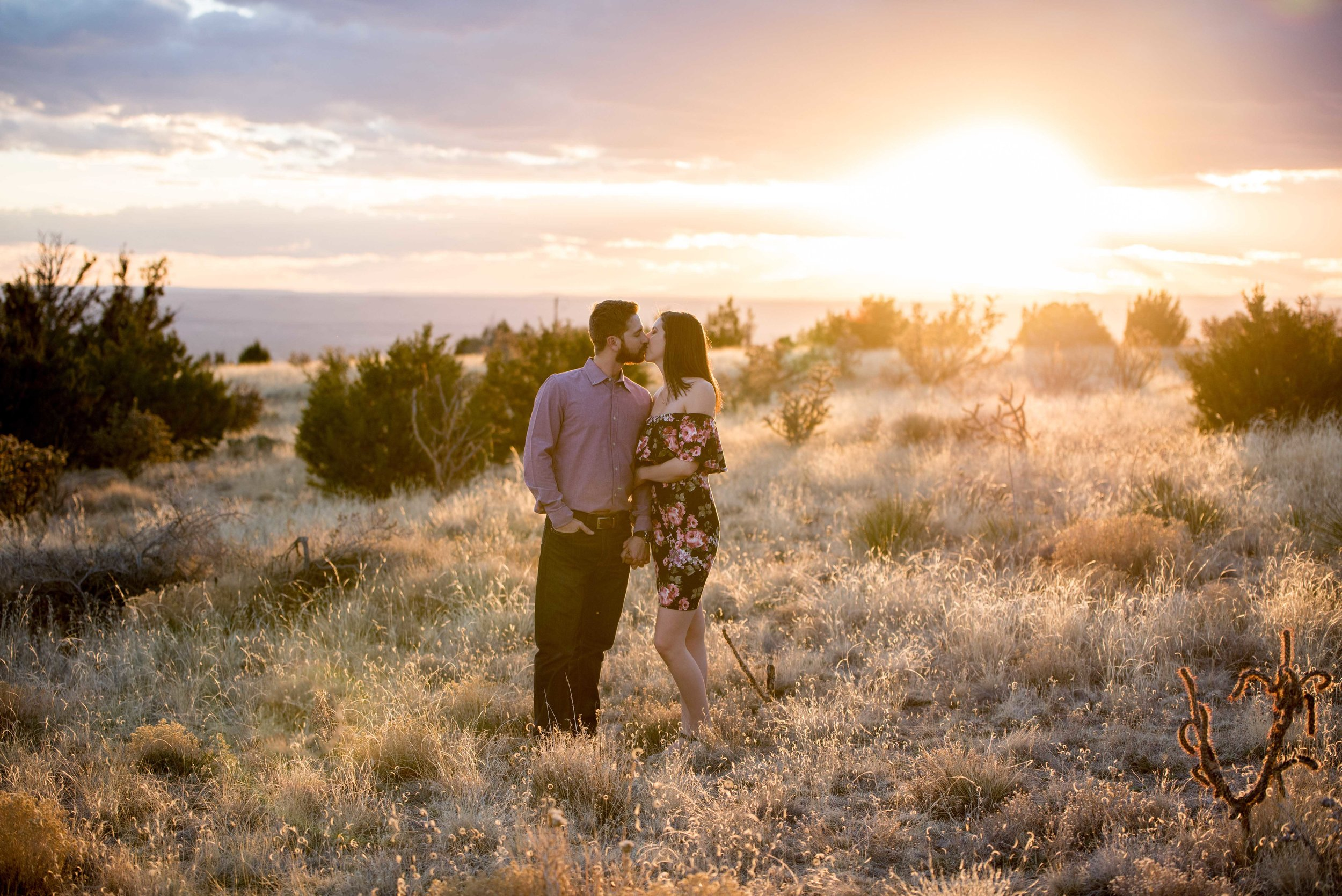 new mexico desert engagement photos