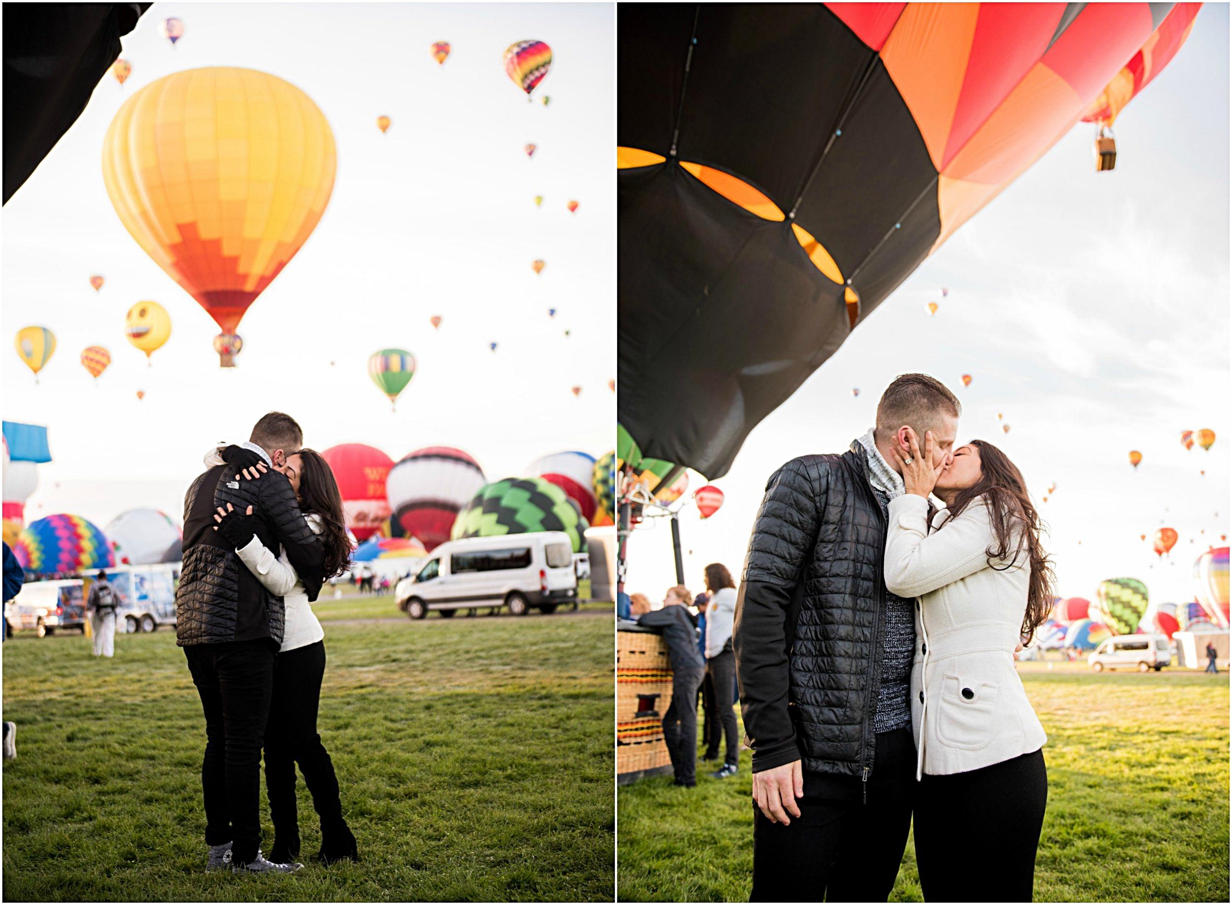 balloon fiesta proposal photography