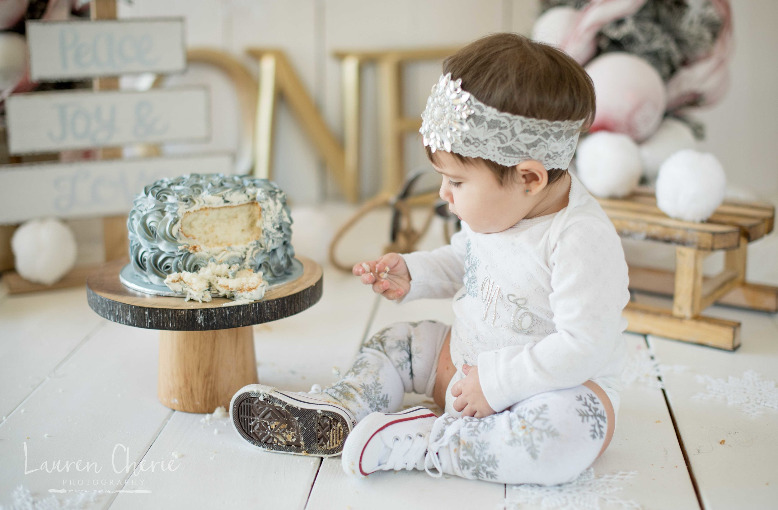 smash cake photographer los lunas