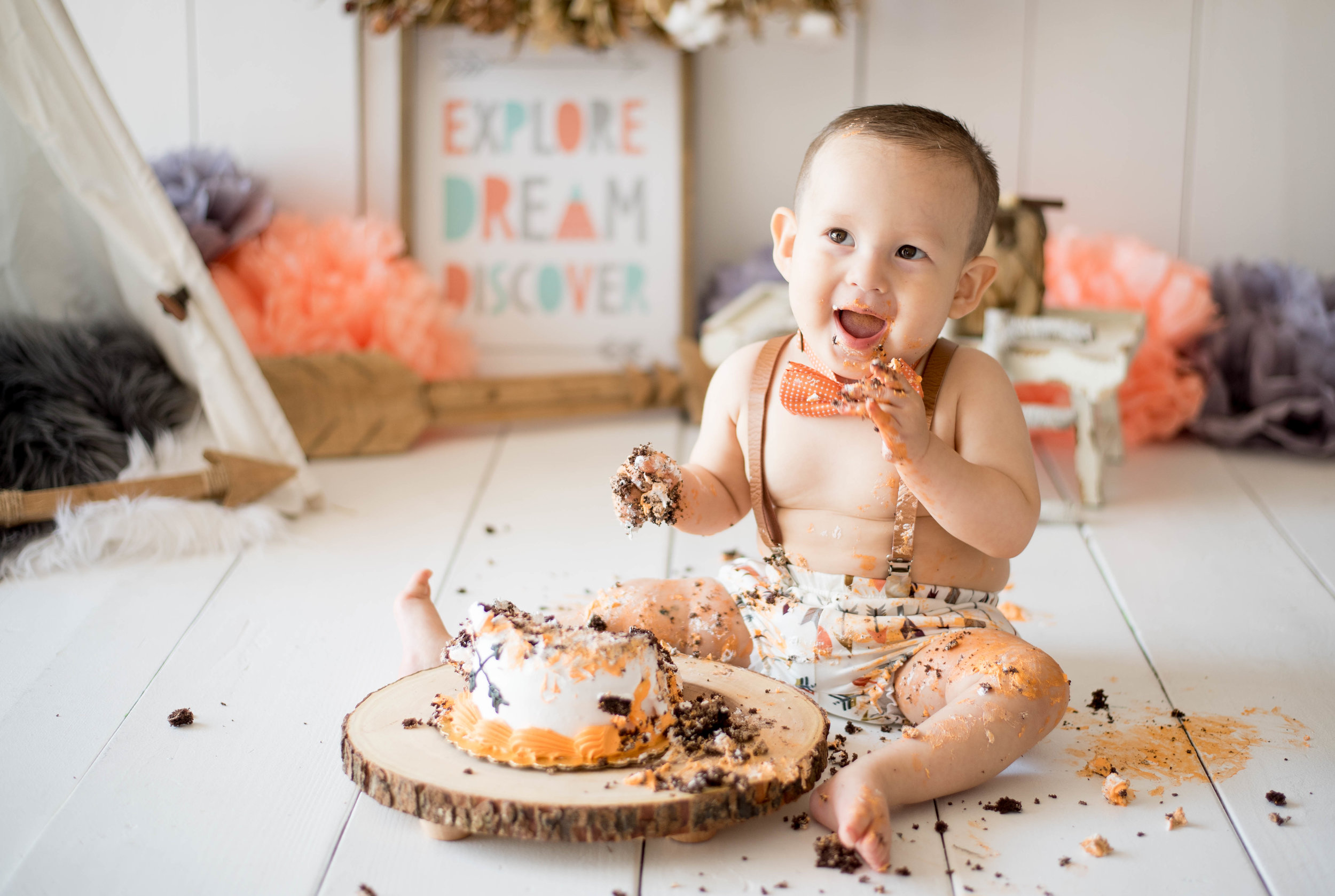 santa fe cake smash photographer