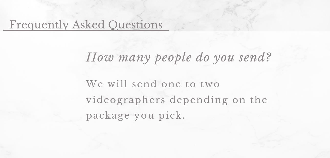 Videography FAQ's