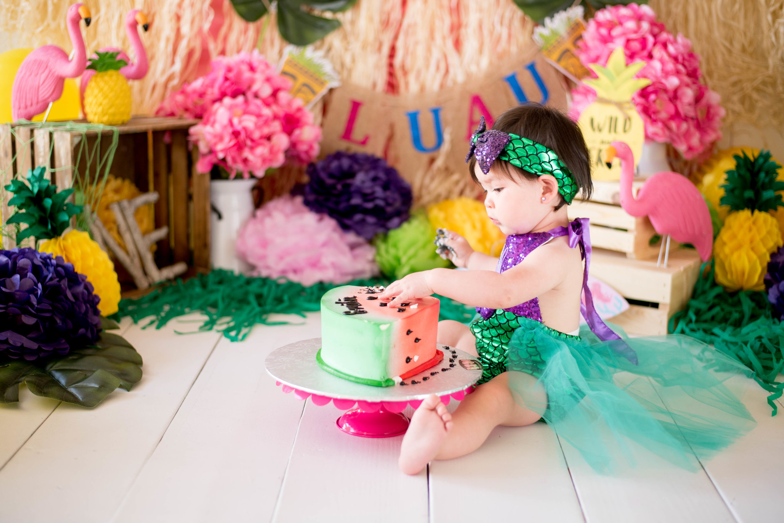 Tropical Mermaid Cake Smash