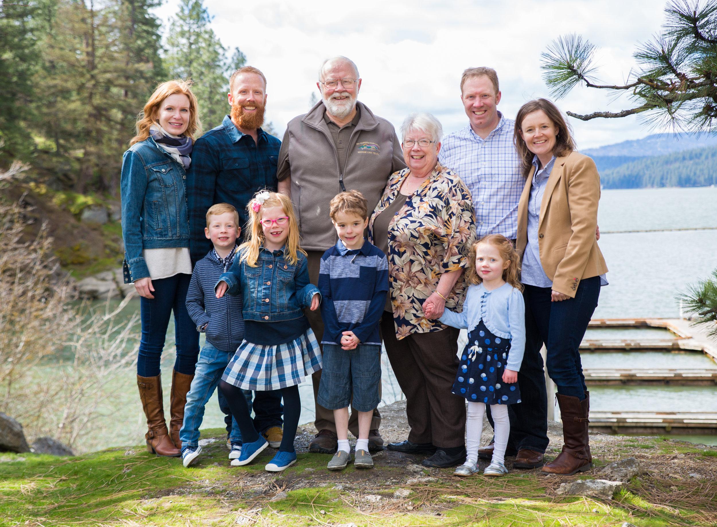 Happy family shoot in Coeur d' Alene Idaho