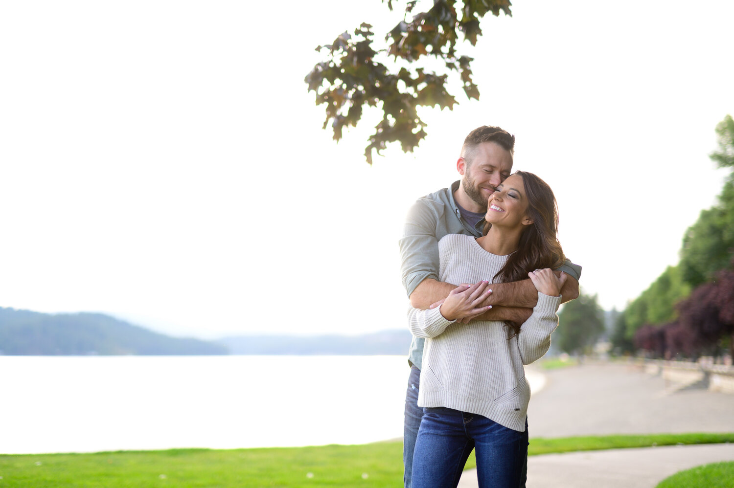 beautiful engaged couple coeur d alene idaho