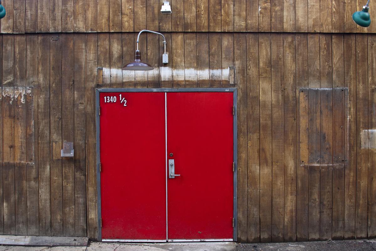 Red Alley Door