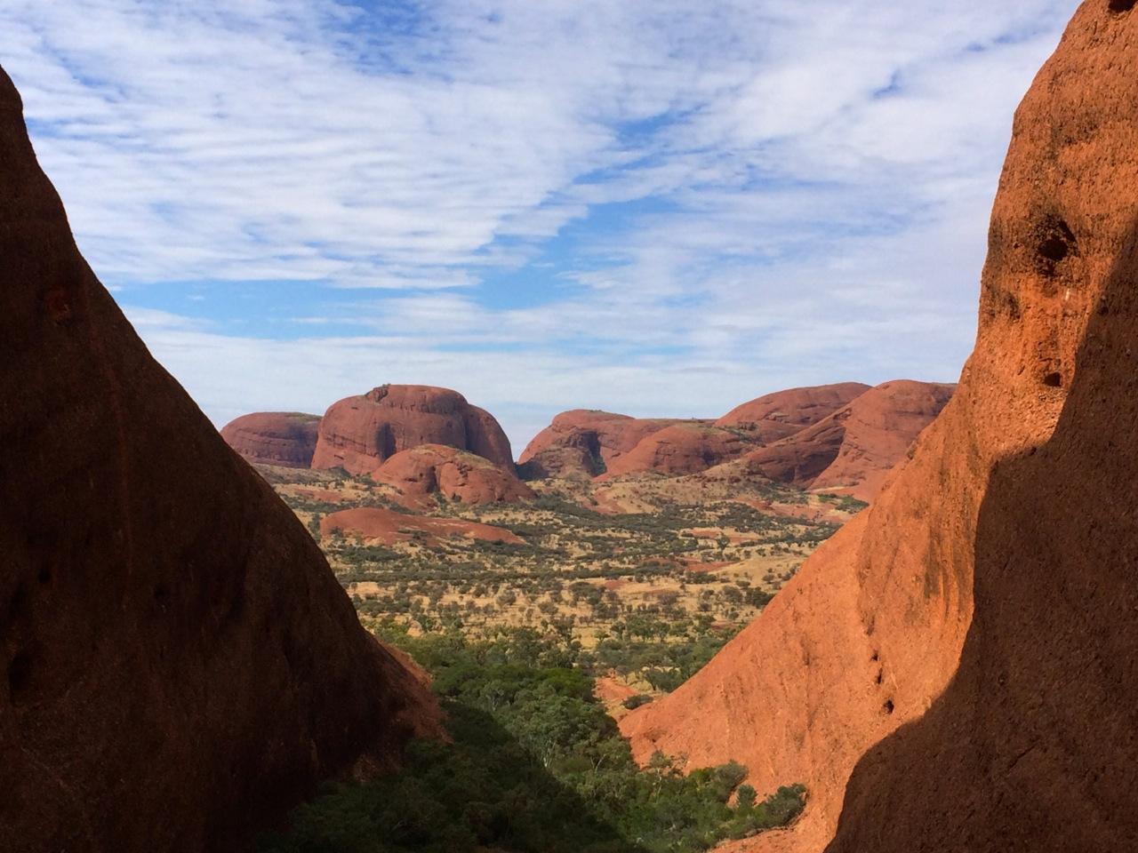 The view through Kata Tjuta, NT