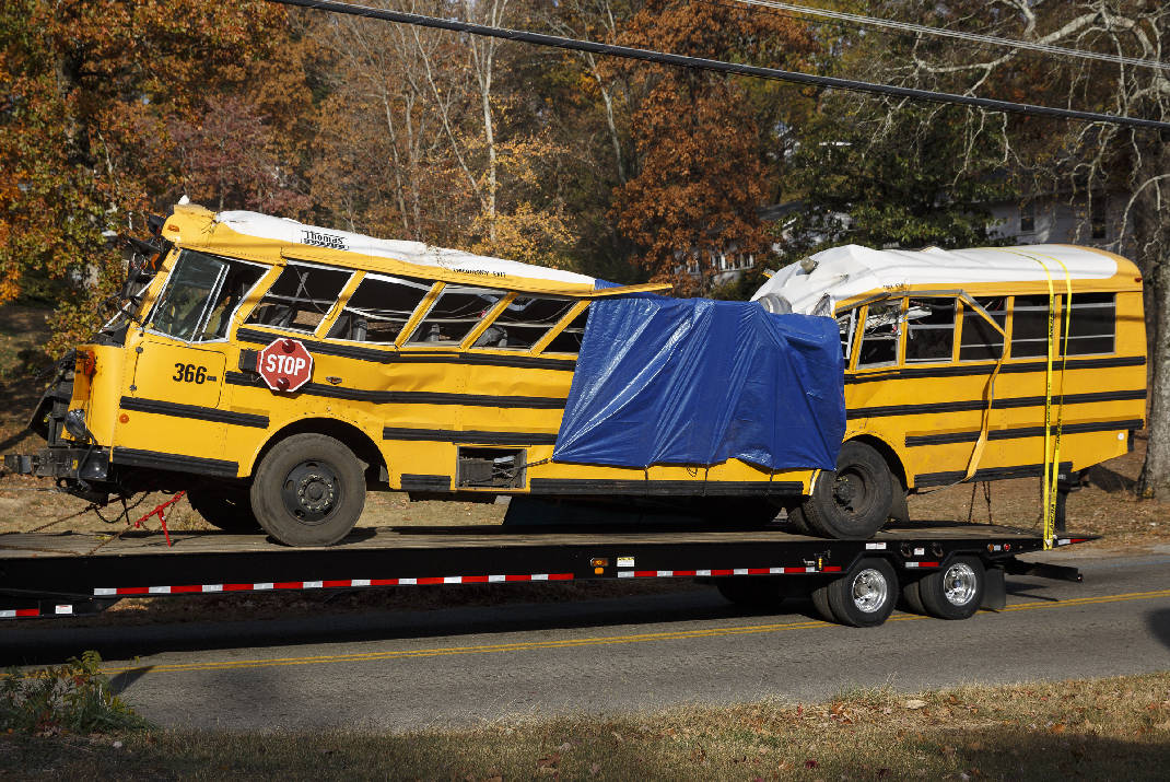 The school bus driver responsible for last year's deadly crash has been released from custody after making bail. He has not yet been sentenced. Photo by Doug Strickland of the  Chattanooga Times Free Press.