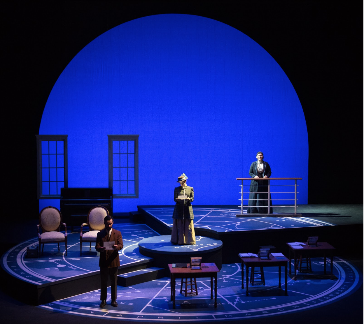 Actors on stage during  Silent Sky .(Photo by the University of Tennessee at Chattanooga.)