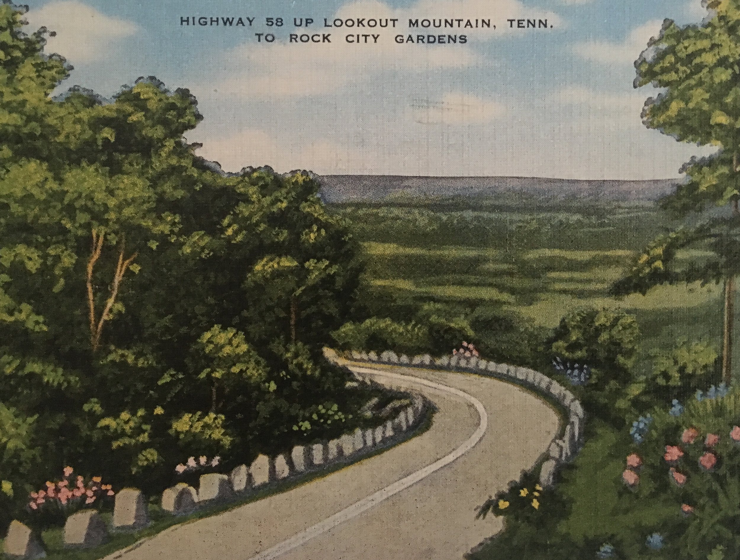old postcard of the mountain, courtesy of Eden Anyabwile