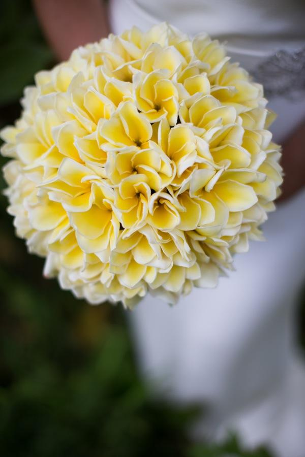 Kaua Wedding Photography  Plumeria Bouquet - Season: Mid February - November